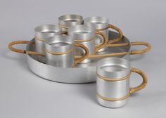 Tray and Mugs, 1933–43   Objects   Collection of Cooper Hewitt, Smithsonian Design Museum
