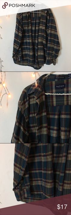 Vintage multicolor flannel Perfect condition multi color Flannel. Long oversized fit and ultra comfy. Bought from Brandy Melville vintage section, tag brand is van huesen. Best for women's medium oversized fit. Brandy Melville Tops Button Down Shirts