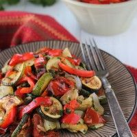 Roasted Zucchini, Tomatoes and Peppers-1-6 from Olga
