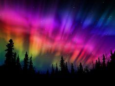 Aurora borealis de colores