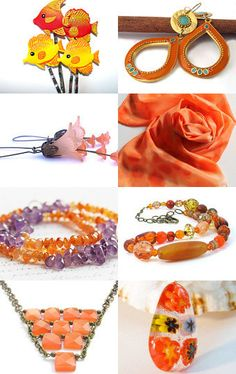 Beautiful orange collection of #handmade goodies for the #onfireteam