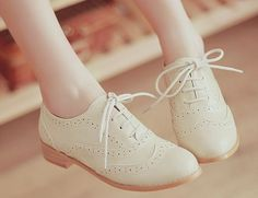 i love oxfords! they're an adorable combination of sweet and girly with a hint of masculinity.