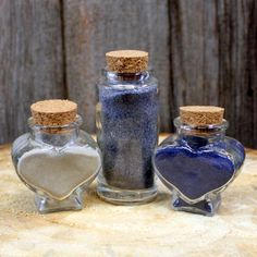 Items similar to Unity Sand and Small Glass Bottles for Wedding - Sand Unity Ceremony on Etsy Small Glass Bottles, Unity Sand, Wedding Sand, Unity Ceremony, Colored Sand, Wedding Decorations, Unique Jewelry, Handmade Gifts, Etsy