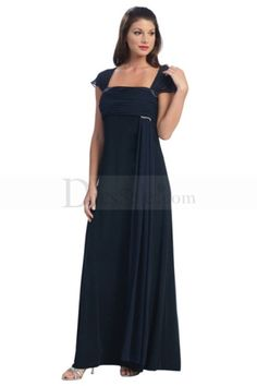 Queenly Column Mother of the Bride Dress with Capped Sleeves