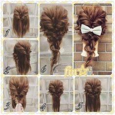 Fashionable Braid Hairstyle for Shoulder Length Hair Hair Hacks, Pretty Hairstyles, Cool Braid Hairstyles, Braided Hairstyles For Black Women, African Hairstyles, Belle Hair, Pretty Braids, Disney Hair, Plaits