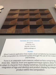 Design Show, Butcher Block Cutting Board, Surface Design, Tiles, It Is Finished, Pattern, Crafts, Room Tiles, Manualidades