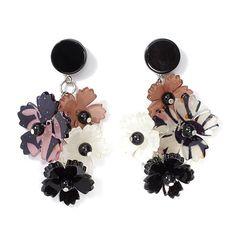 """Rara Avis by Iris Apfel """"Flower"""" Cluster Drop Earrings"""