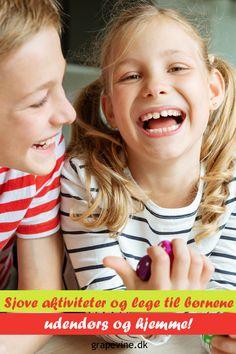 Her finder du sjove aktiviteter og lege, som kan bruges til børnene udendørs og derhjemme. Der er også et par tips og idéer til, hvordan man kan fejre en begivenhed på en anden måde. Picnic, Legs, Face, Bruges, Outside Games, Games For Children, Playground, Amazing, Tips