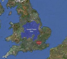 Greater Tokyo area compared to Greater London and Mainland Britain (Japan, United Kingdom) Planet Map, Map Of Great Britain, Geography Map, Historical Maps, Greater London, History Memes, Antique Maps, Overlays, Make It Yourself