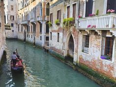 A Gondola on a Canal in Venice, UNESCO World Heritage Site. Veneto, Italy, Europe Photographic Print by Amanda Hall at AllPosters.com