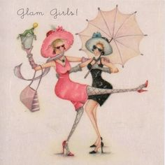 Glam Girls Female Birthday Card Ladies Who Love Life - £2.95 - FREE UK Delivery.  Make Your Purchase :  http://www.pippins.co.uk/glam-girls-female-birthday-card-ladies-who-love-life.html