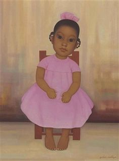 Girl in a Pink Dress By Gustavo Montoya