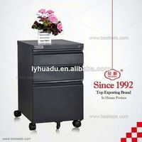 Source Black mobile cabinet, cold rolled steel filing cabinet with 3 drawer and wheels on m.alibaba.com