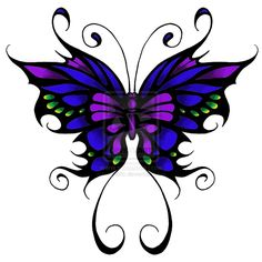 Butterfly Tattoo for leg