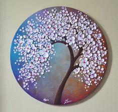 Duvar Dekor Çiçekli Ağaçlar