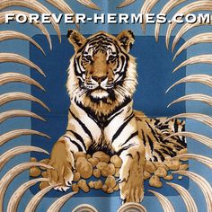 Stunning! A design by Christiane Vauzelles from year 1977 this iconic silk scarf titled Tigre Royal features the Hermes Paris classic Tiger & #crown & #laurel as #gavroche #pocketscarf #pocketsquare NOW in our online store #foreverhermes http://forever-hermes.com from couture house #Hermes Paris for worldwide #dapper #gentleman #hermeslover #hermescollector #catlover #cat #feline #catsofinstagram in #blue & gold #MensSuit #menstyle #MensWear #mensfashion #womensfashion #womenswear #tiger