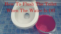 How To Flush The Toilet When The Water Is Off. Use a bucket of water to flush your toilet instead of running to your neighbor's house during an emergency.