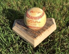 Reclaimed Poplar Wood, Home Plate Baseball Stand