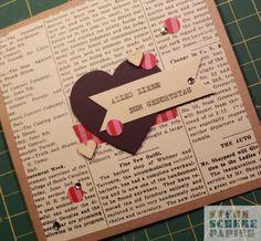 Hier kommt die letzte Karte aus meiner Geburtstagskarten-Bastel-Aktion letzte Woche ;-) Und diese war mein absoluter Favorit, obwohl ich ja eigentlich nicht so ein Strass-Steinchen Fan bin ... aber...