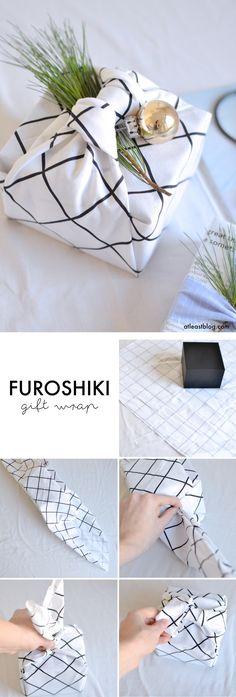 Furoshiki Geschenkverpackung selber machen: So verpackst du deine Geschenke in Stoff