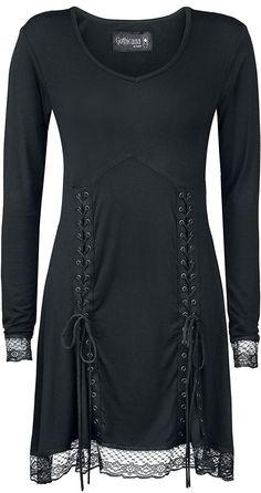 Gothicana by EMP Ravnos Blood Dress Kleid schwarz: Amazon.de: Bekleidung