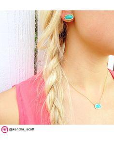 Ellie Stud Earrings in Turquoise - Kendra Scott Jewelry