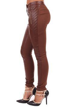 Lime Lush Boutique - Brown Faux Leather Biker Pants, $49.99 (http://www.limelush.com/brown-faux-leather-biker-pants/)