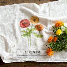 Magnolia Garden Towel | Zinnia | Garden | Magnolia Market | Chip & Joanna Gaines | Waco, TX |