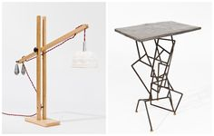 Jelly Desk Lamp & Lead Side Table. Piers Saxby Candy: Contemporary sculpture and lighting.