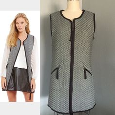 NWT Amazing Mini Vest Dress  must have  Amazing quilted, two front pocket, zippers with tassels, mini dress or long vest, layer it or wear it with some thigh high boots or some sneakers  you can't go wrong  This the only one I have so once it's gone it' goneDon't miss out please see measurements as not all sizes are the same ✅will Bundle  ✅ all reasonable offers will be considered ✅ No Trading  Poshmark rules only‼️ Measurements taken laying flat Ⓜ️ chest armpit to armpit 39 Ⓜ️Length 31…