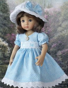 """**Simply Blue** Outfit for 13"""" Dianna Effner Little Darling Dolls"""