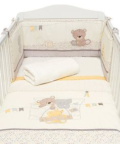 BOUGHT Mothercare Teddies toy box cot bedding set. This is 1 if the sets we want for baby