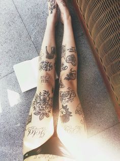 Kinda a cluster but love leg tattoos