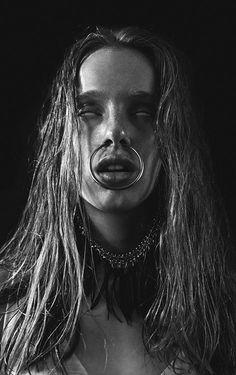 Strangely compelling, Photography - Igor Klepnev Designer - Nastya | spooky | creepy | erie | possessed | nose ring | bull ring | black & white fashion editorial | www.republicofyou.com.au