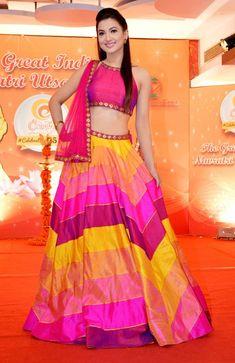 Dandiya trendy chaniya choli with Fusion of colours