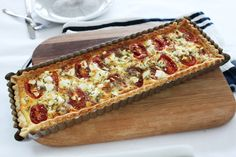 food on paper: Tomato, Feta and Thyme Tart