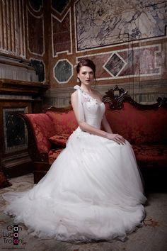 for Gian Luca Troiani One Shoulder Wedding Dress, Wedding Dresses, Fashion, Bride Dresses, Moda, Bridal Wedding Dresses, Fashion Styles, Weeding Dresses, Weding Dresses