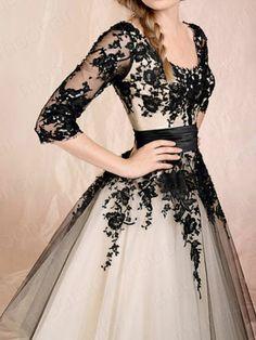 White Black Prom Party Gowns Wedding Dress | eBay