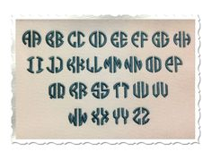 Circle 2 Letter Monogram Machine Embroidery Font
