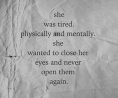 """I just need to... sleep,"" she sighed, dropping herself on the half stuffed mattress. ""Sleep..."" Beautiful"