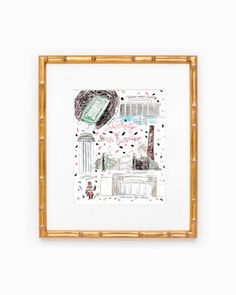 USC University of South Carolina College Map Print #racheltenny