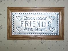 Back Door Friends Are Best