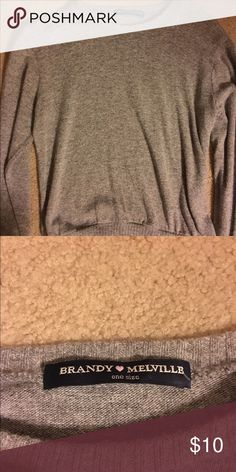 Long Sleeved Cropped Brandy Melville Sweater Super cute long sleeved, cropped Brandy Melville sweater!! Can be word adorably with anything. Perfect condition Brandy Melville Sweaters Crew & Scoop Necks