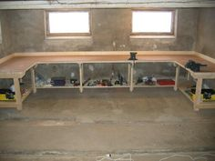 heavy duty work bench diy for the garage more more - How To Build A Garage Workbench