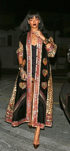 Ri-Ri in vintage Moschino Couture coat Be Fabulous over a sleeveless dress!