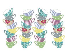 Teacup- vector art adobe illustrator & adobe photoshop