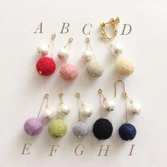 フェルトボール×コットンパール チェリーピアス イヤリング Felted Wool Crafts, Diy Accessories, Diy Necklace, Crochet Flowers, Wool Felt, Diy And Crafts, Felted Jewelry, Vintage Jewelry, Drop Earrings