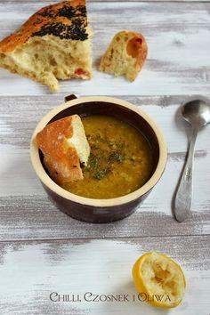 Egipska zupa z czerwonej soczewicy | Chilli, Czosnek i Oliwa | blog kulinarny