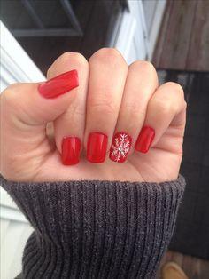 Winter nails, j'aime beaucoup simple et un petit clin d'œil a l'hiver