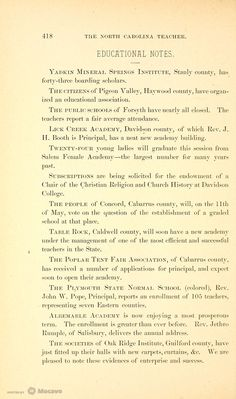 The North Carolina Teacher 1884, Volume 1884, Page 442 | Document Viewer